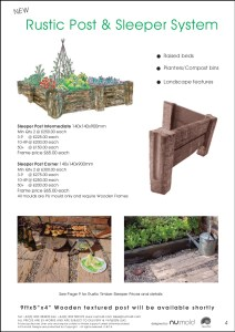 Numold - Moulds for Concrete Products - PU Price List Page 4 - Rustic Post & Sleeper