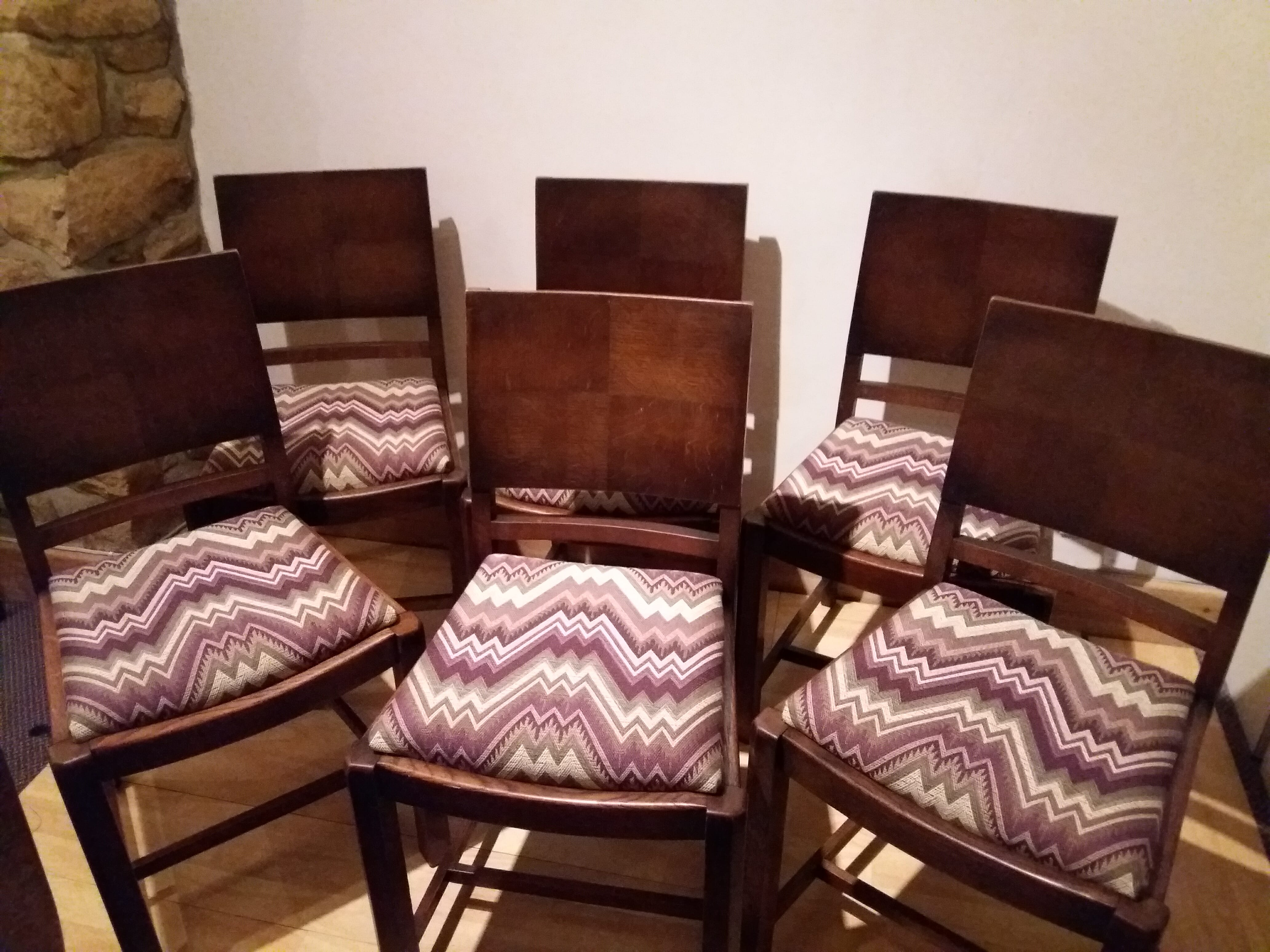 Refurbished Chairs Refurbished Set Of 6 Dining Chairs