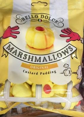 Bello Dolce Marshmallows Custard Pudding, gefunden bei Netto mit Hund