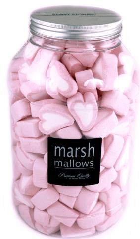 Rosa Marshmallow-Herzen von mellow mellow