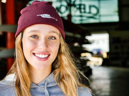Maroon Cuffed Knit Hat with Embroidered Numscull Logo