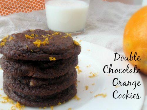 Double Chocolate Orange Cookies