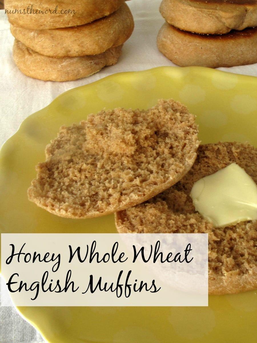 Honey Whole Wheat English Muffins