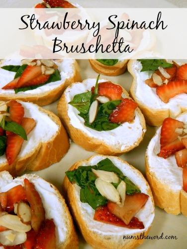 Strawberry Spinach Bruchetta
