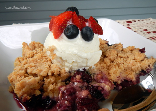 Strawberry-Blueberry Crisp