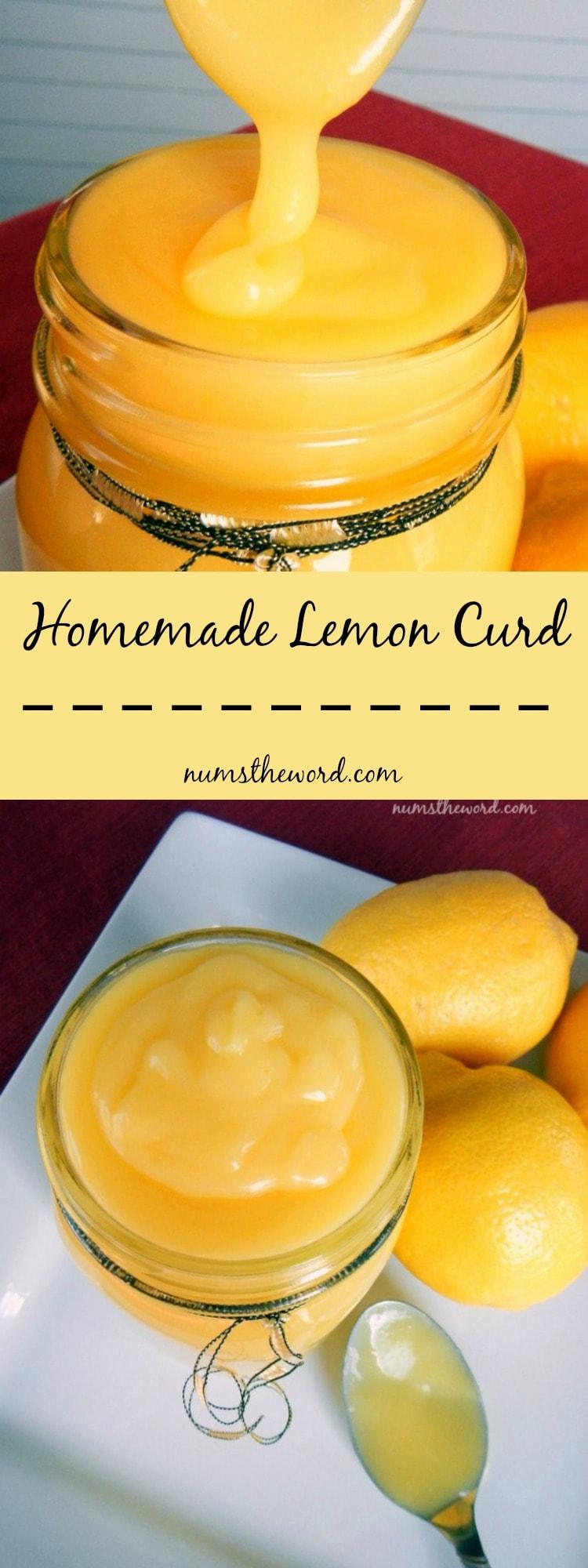 homemade lemon curd long