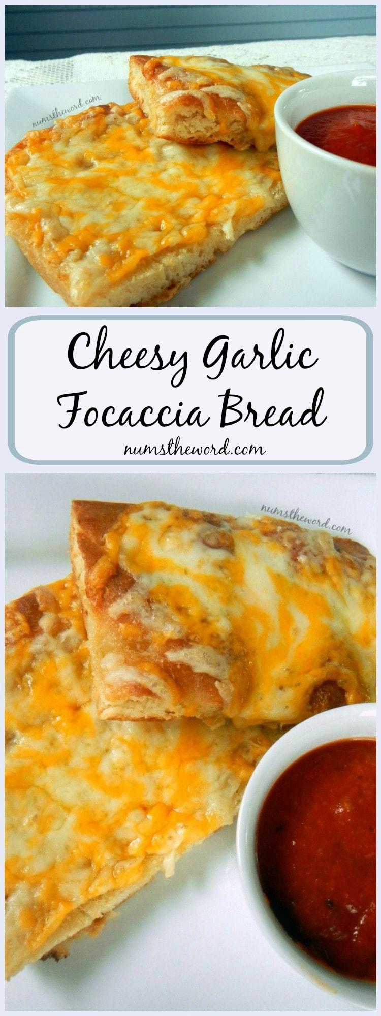 Cheesy Garlic Focaccia Bread LONG