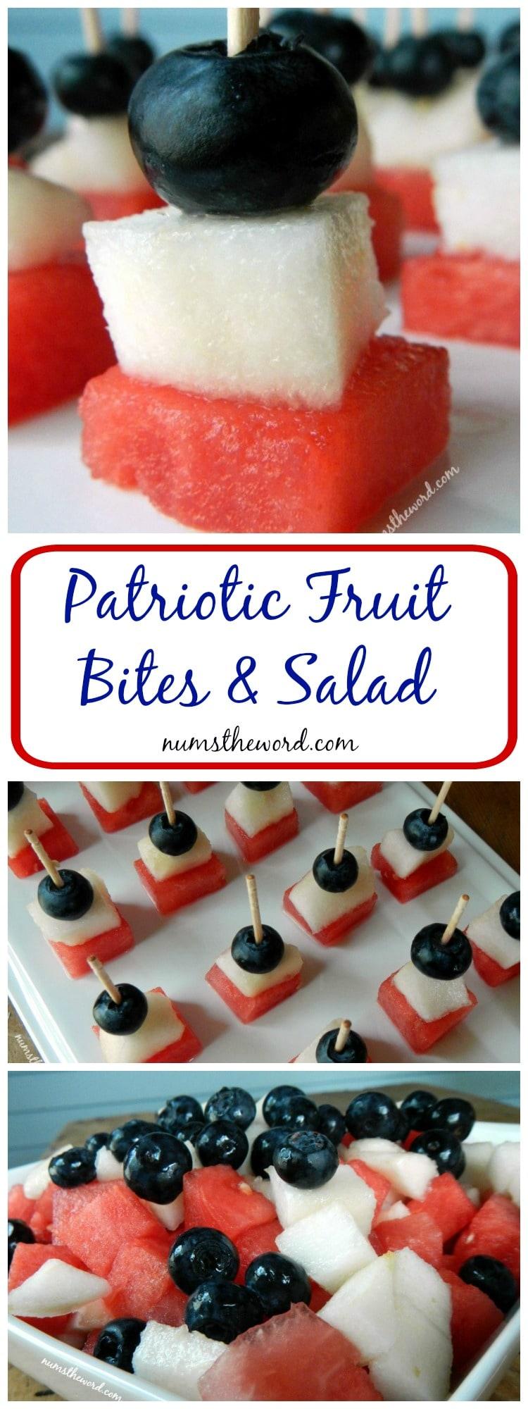 Patriotic Fruit Bites & Salad