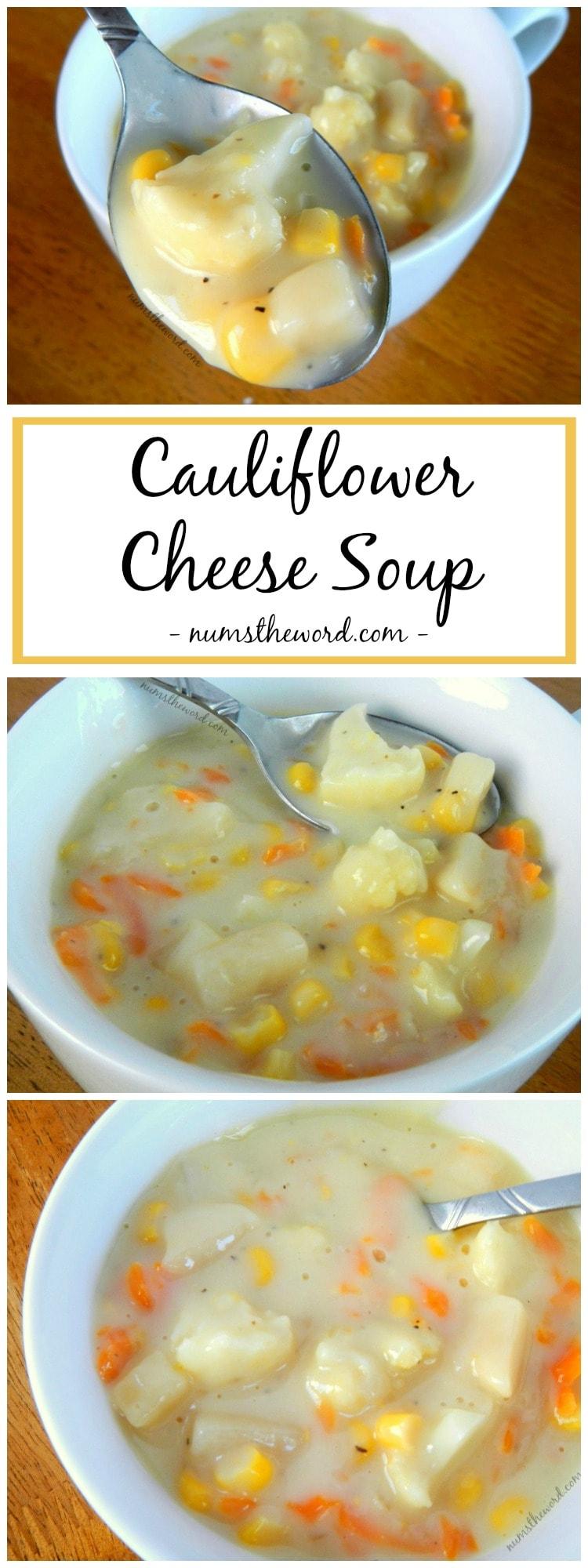 Easy Cauliflower Cheese Soup