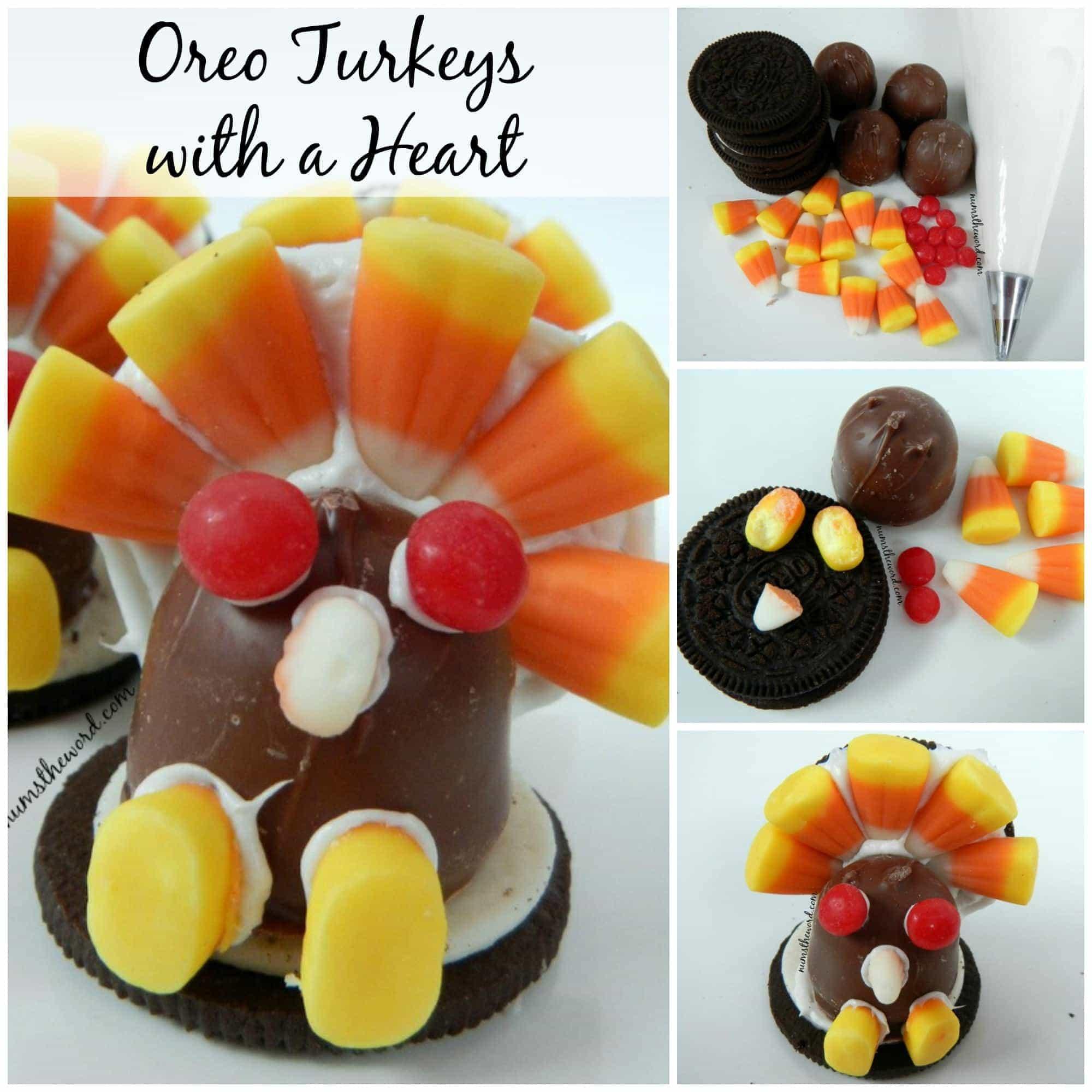 Oreo Turkeys with a Heart