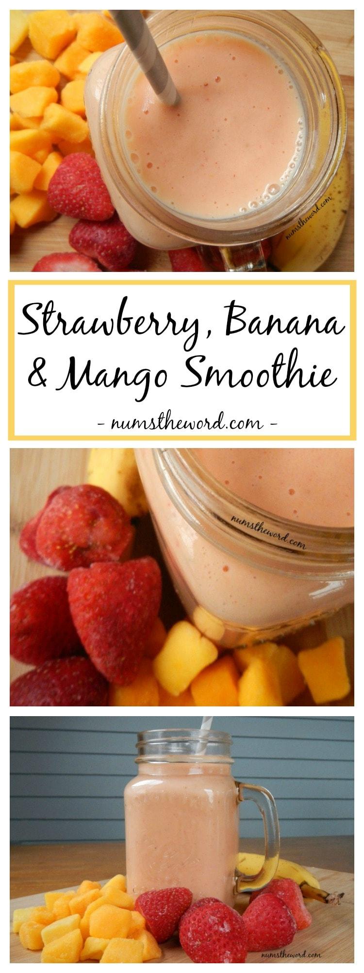 Strawberry, Banana & Mango Smoothie