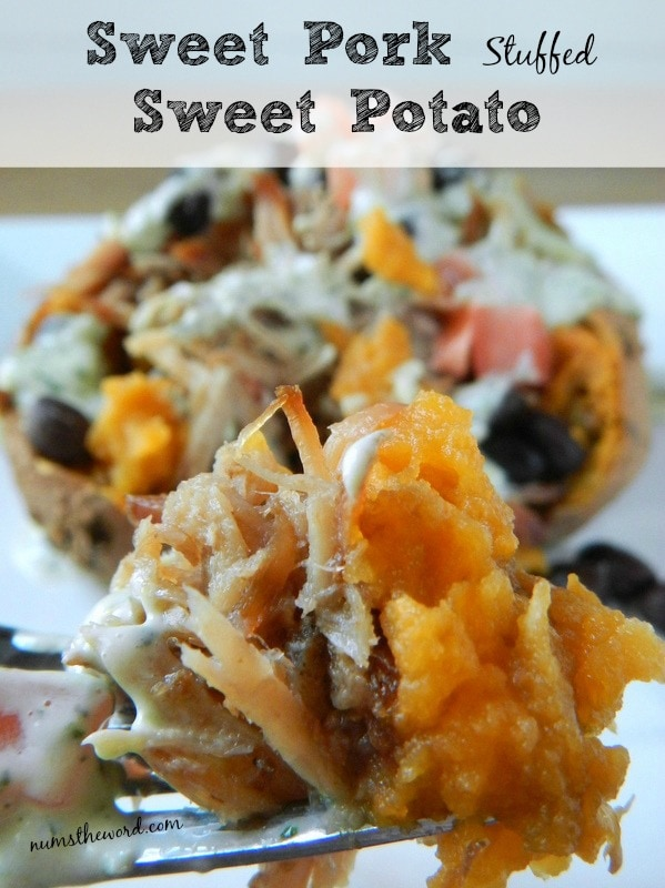 Sweet Pork Stuffed Sweet Potatoes