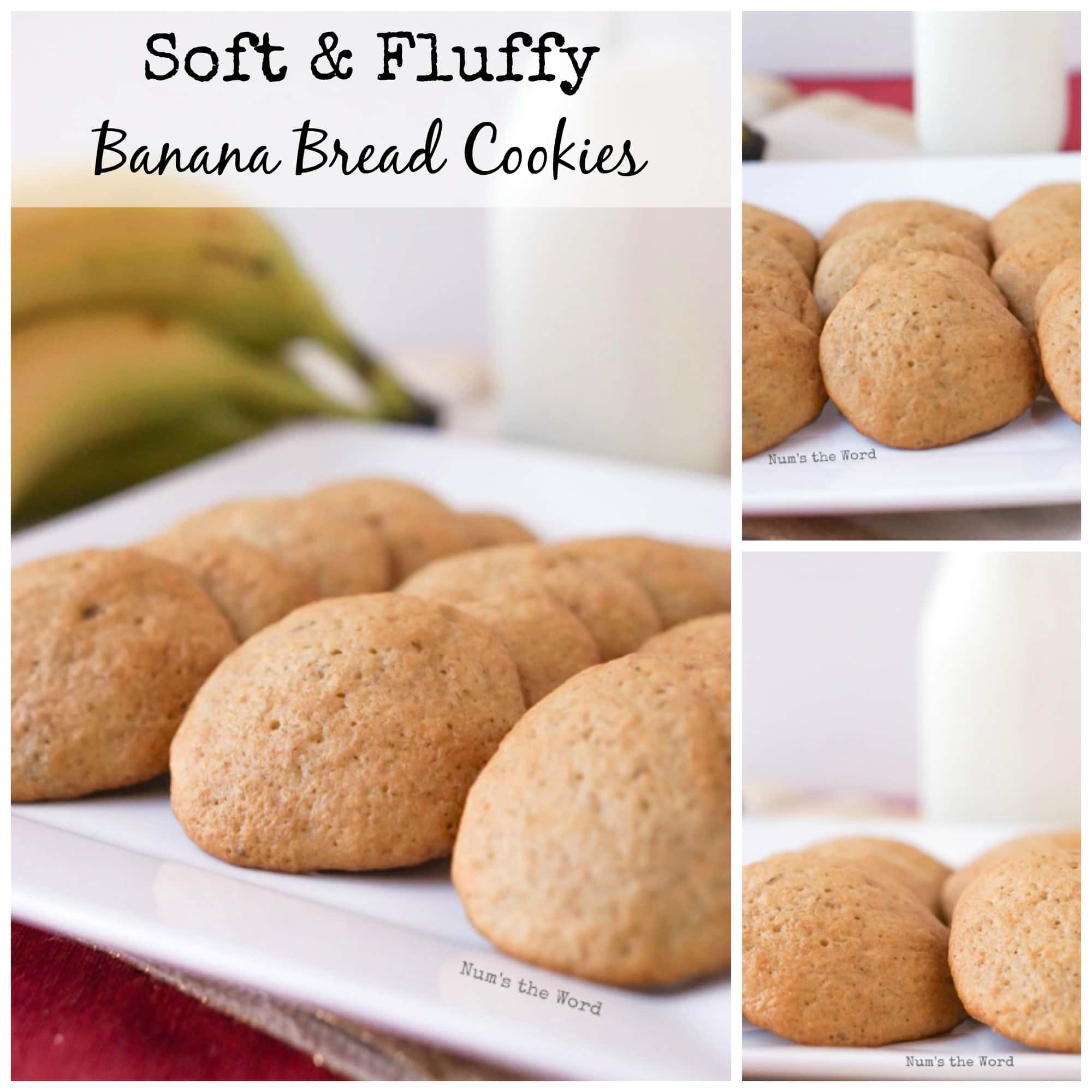Soft & Chewy Banana Bread Cookies - Facebook collage of photos