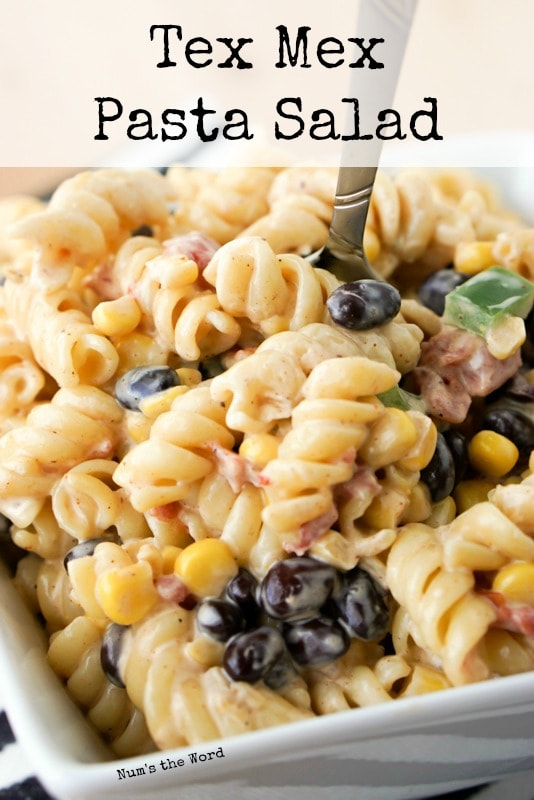 Tex Mex Pasta Salad main image on website