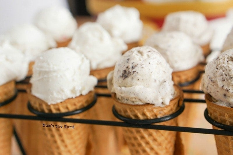 Cupcake Ice Cream Cones - in stand