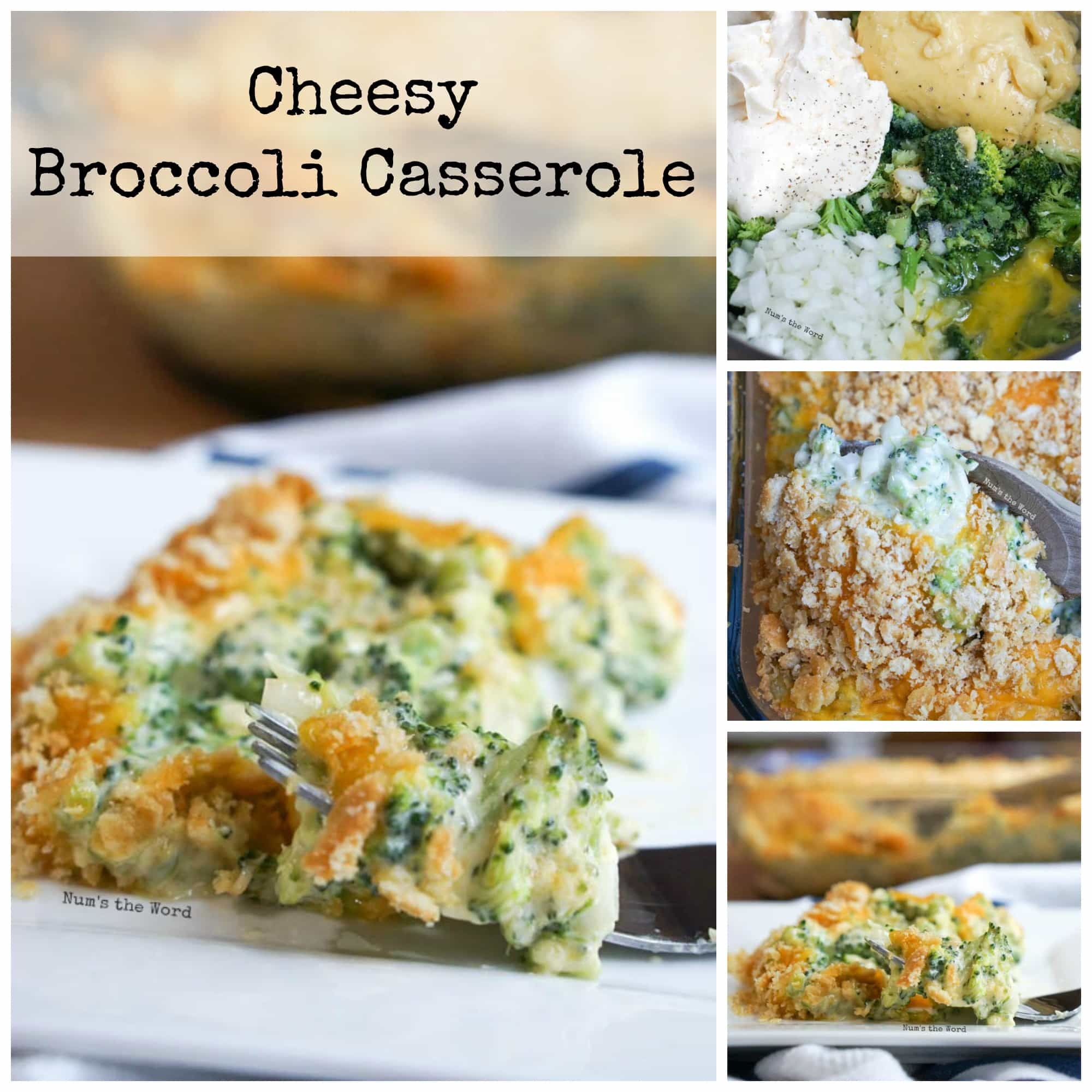 Broccoli Cheese Casserole with Ritz Crackers - Num's the Word