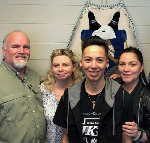 The founding board members of the Tunngasugit Inuit Resource Centre are, from left, Steve Massey, Jackie Massey, Maxine Angoo and Nikki Komaksiutiksaq in Winnipeg on May 6, 2019. Missing from photo is Gail Wallace. Photo courtesy Maxine Angut