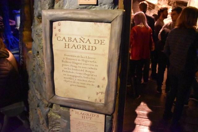 Cartel de la cabaña de Hagrid