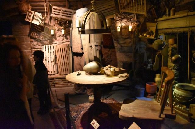 Interior de la cabaña de Hagrid