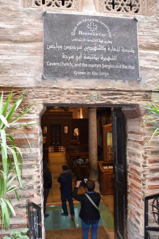 Entrada a la caverna de San Sergio