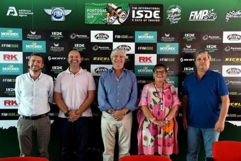 International Six Days Enduro 2019 Apresentação no palco das SBK
