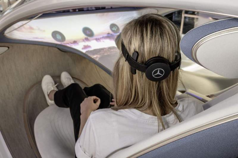 Mercedes wearable brain-computer interface for autonomous cars