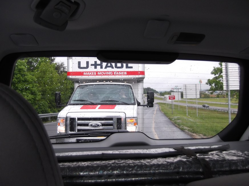 The U Haul follows the Sisters as they arrive on May 6th at their new home.