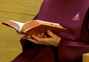 A Handmaid prays the Divine Office