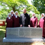 With the new monument for the 40 Handmaids and benefactors now interred in Benton.