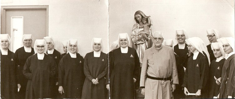 Father Gerald visiting his Handmaids not long before his death.