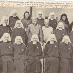 First vows in 1956. Sister Elizabeth is second from left in front row.