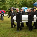 Pouring rain did not dampen spirits nor the respect accorded the deceased throughout the ceremonies.