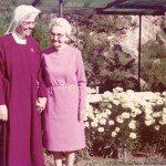 Mother David Marie and her mom, Sylvia Walker, our first Oblate of the Precious Blood.
