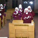 Sisters sing a hymn to the Holy Spirit prior to swearing in members of the Council.