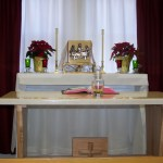 On 26 Dec 2013, Bishop Stika consecrated our Oratory's altar.