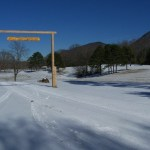 A sunny wintry landscape at CPOP.
