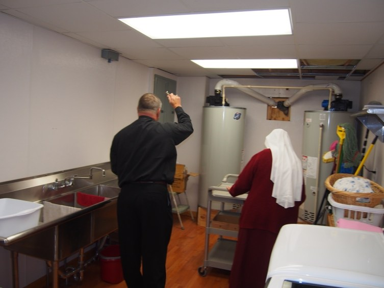 Can their be any better protection for plumbing problems than a Bishop blessing the hot water tanks and laundry?