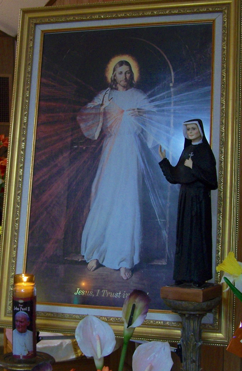The Divine Mercy Image, Saints Faustina and John Paul II