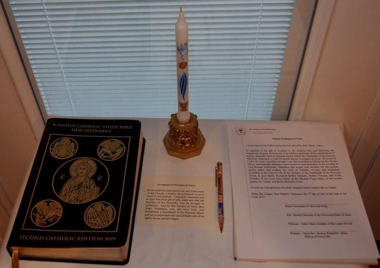 Holy Gospels, Baptismal Candle, Vow Formula