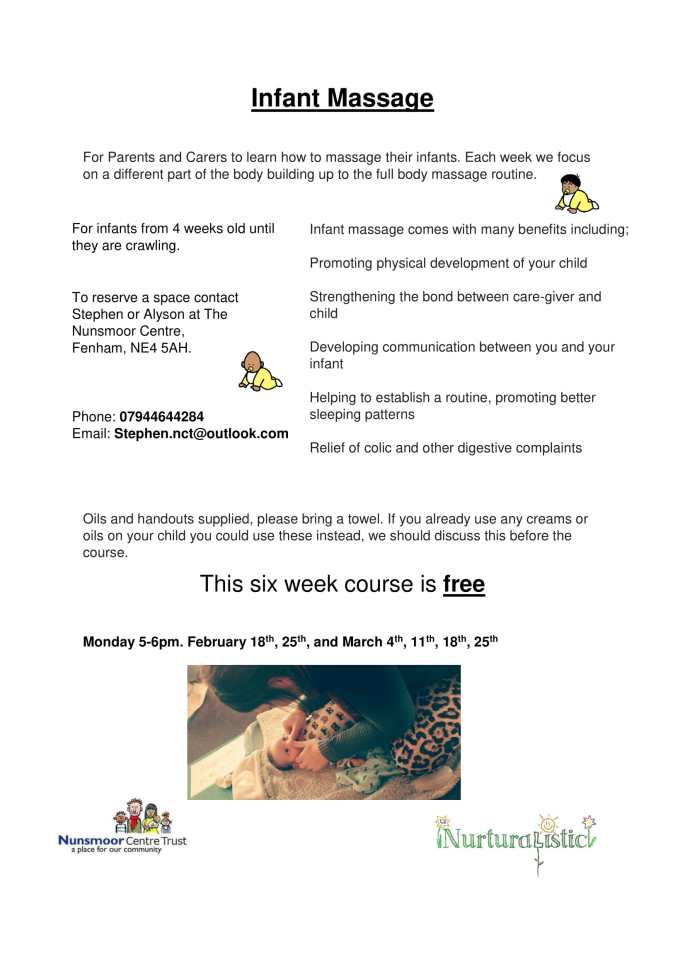 baby massage feb 2019 poster