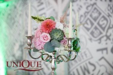 Succulent and Dahlia Wedding Centerpiece Unique Moments