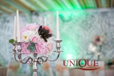 Succulent and Dahlia Wedding Centerpiece