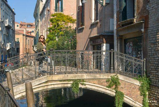 Ponte e canal em Veneza