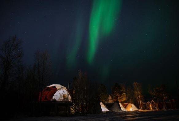 Glamping Holmen Husky Lodge, Noruega