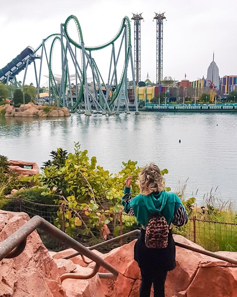 Parques da Universal em Orlando // Montanha Russa do Hulk