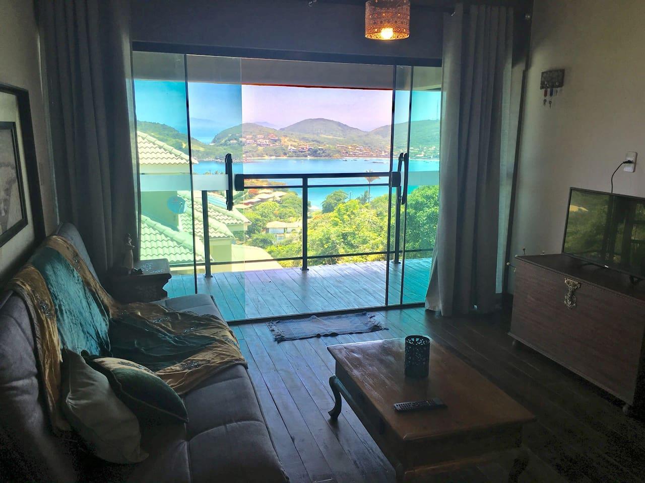 Airbnb para um casal na Praia da Ferradura, em Búzios
