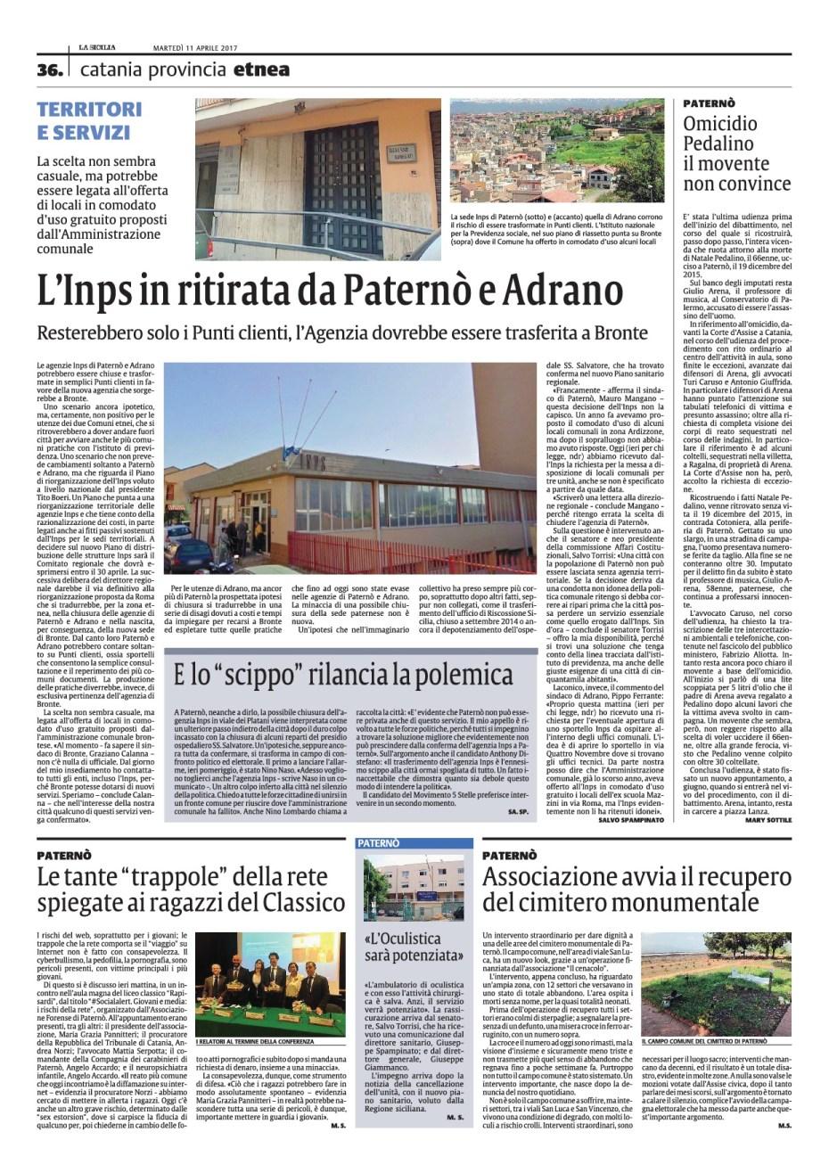 La Sicilia 11 Aprile 2017