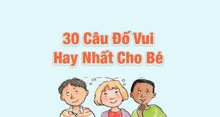 Câu Đố Vui Cho Bé