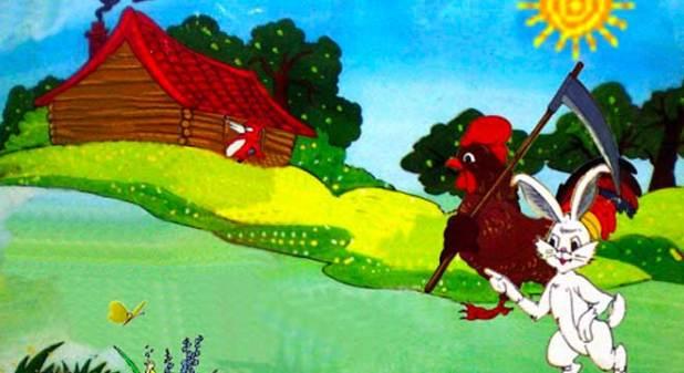 hình ảnh truyện cáo thỏ và gà trống