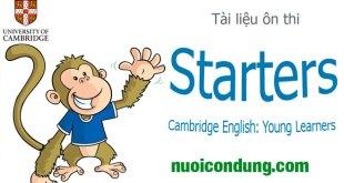 Đề Thi Starter Cambridge -